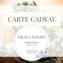 carte cadeau Okaly Fleurs