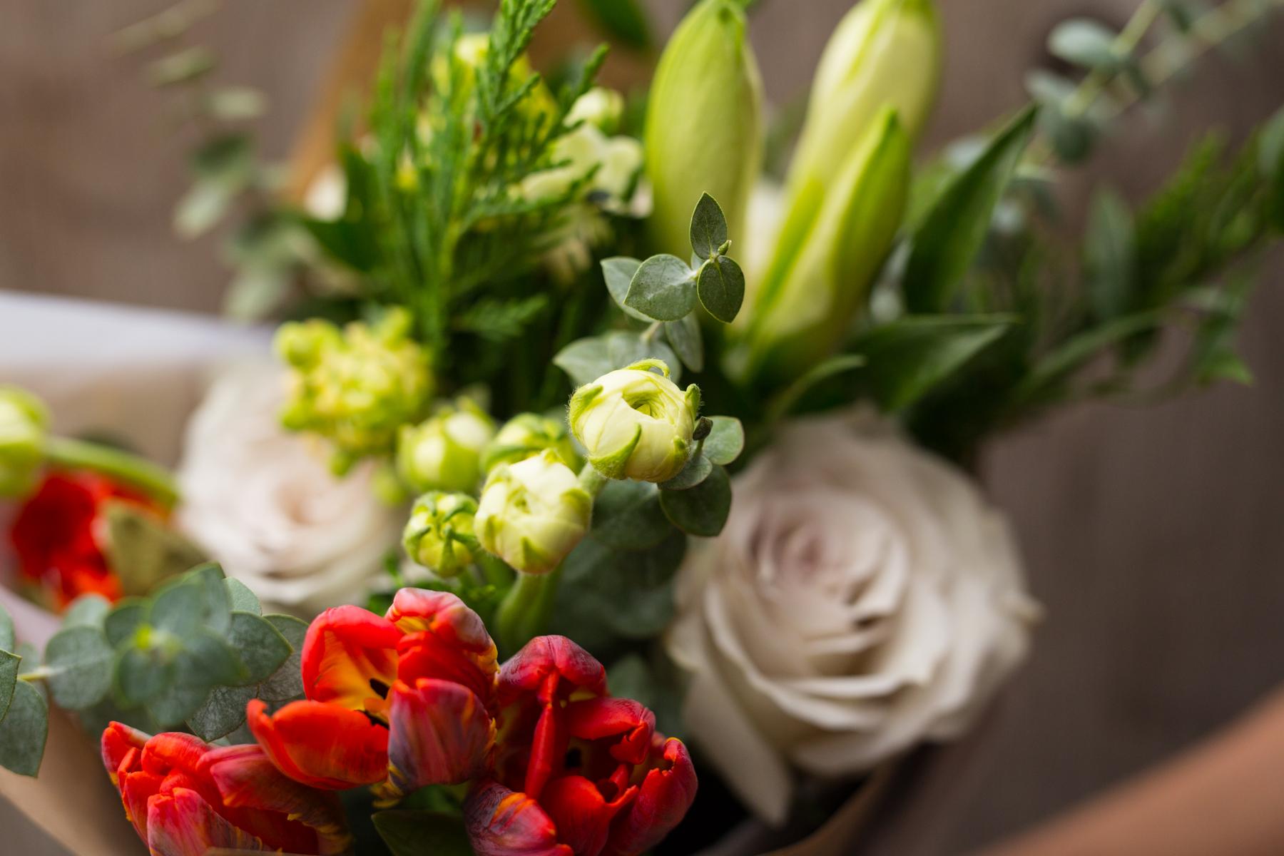 Bouquet fleurs Okaly